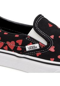 Vans - Tenisówki VANS - Classic Slip-On VN0A33TB45L1 (Valentineshrts)Blkrcngrd. Okazja: na co dzień. Zapięcie: bez zapięcia. Kolor: czarny. Materiał: materiał. Szerokość cholewki: normalna. Model: Vans Classic