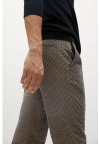 Mango Man - Spodnie Brest. Kolor: beżowy