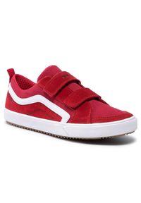 Geox - Sneakersy GEOX - J Alonisso B. A J152CA 02210 C0003 D Red/White. Zapięcie: rzepy. Kolor: czerwony. Materiał: zamsz, materiał, skóra. Szerokość cholewki: normalna