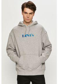 Szara bluza nierozpinana Levi's® z nadrukiem, z kapturem