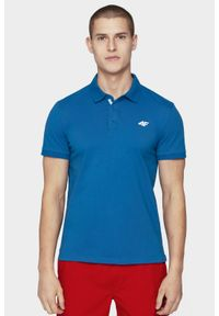 Niebieska koszulka polo 4f polo, na co dzień