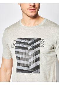 Szary t-shirt BOSS