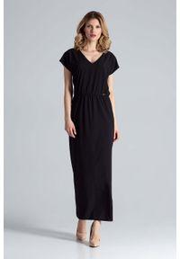 Czarna sukienka wizytowa Figl maxi