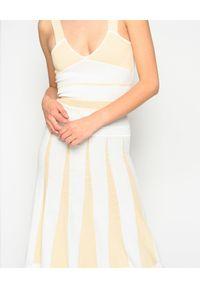 Pinko - PINKO - Sukienka plisowana Lipari. Kolor: biały. Materiał: materiał. Długość rękawa: na ramiączkach. Sezon: lato, wiosna. Typ sukienki: plisowane, rozkloszowane. Długość: midi
