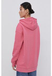 adidas Originals - Bluza bawełniana. Kolor: różowy. Materiał: bawełna. Długość rękawa: długi rękaw. Długość: długie