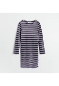 Reserved - Sukienka w paski - Wielobarwny. Wzór: paski