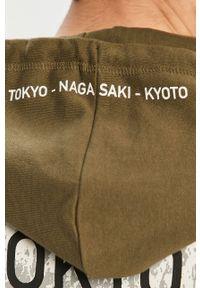 Oliwkowa bluza nierozpinana Only & Sons gładkie, z kapturem
