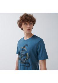 House - Koszulka z nadrukiem Mexico - Niebieski. Kolor: niebieski. Wzór: nadruk