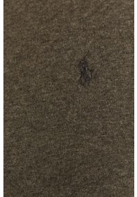 Szary sweter rozpinany Polo Ralph Lauren polo, casualowy, na co dzień