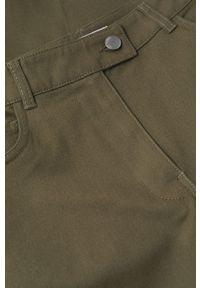mango - Mango - Spodnie Catalina. Stan: podwyższony. Kolor: brązowy. Materiał: włókno