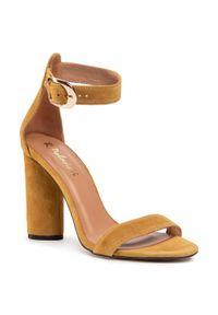 Żółte sandały R.Polański