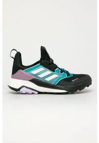 Wielokolorowe buty trekkingowe adidas Performance z okrągłym noskiem, na sznurówki, z cholewką