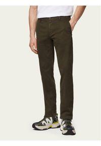 BOSS - Boss Chinosy Schino 50379152 Zielony Slim Fit. Kolor: zielony. Materiał: materiał