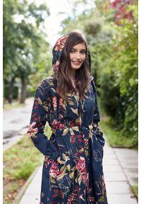 Marie Zélie - Parka Linda Dicentra. Materiał: bawełna, elastan. Długość: długie