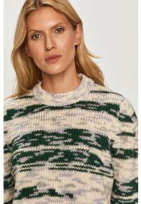 Zielony sweter Sportmax Code z okrągłym kołnierzem, na co dzień