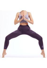 KIMJALY - Legginsy 7/8 do jogi dynamicznej damskie Kimjaly. Materiał: poliester, poliamid, materiał, elastan. Sport: joga i pilates