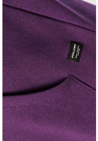 Fioletowa bluza nierozpinana Jack & Jones na co dzień, gładkie, z kapturem, casualowa
