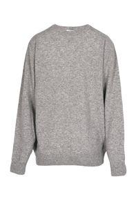 VEVA - Klasyczny męski sweter Artisan szary. Kolor: szary. Materiał: wełna, kaszmir. Wzór: melanż. Styl: klasyczny