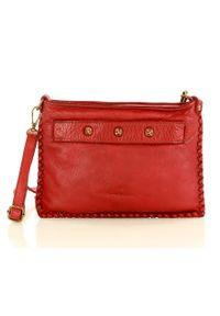 Czerwona torebka klasyczna skórzana