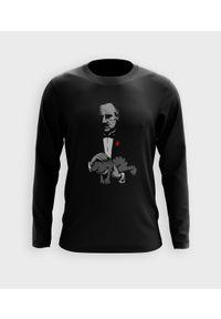 MegaKoszulki - Koszulka męska z dł. rękawem Man with a cat. Materiał: bawełna