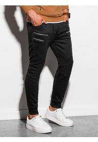 Czarne spodnie Ombre Clothing z aplikacjami