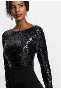Czarna sukienka bonprix maxi, kopertowa, wizytowa