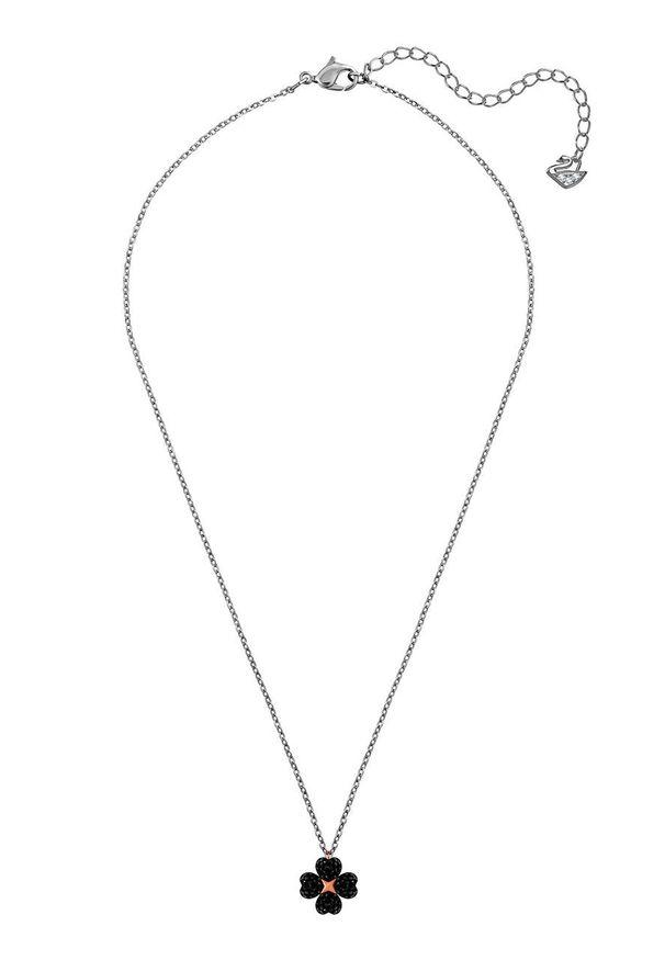 Wielokolorowy naszyjnik Swarovski z kryształem, metalowy, z aplikacjami