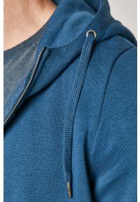 Niebieska bluza rozpinana medicine na co dzień, casualowa