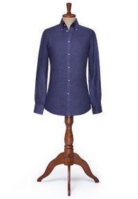 Niebieska koszula Lancerto button down, elegancka