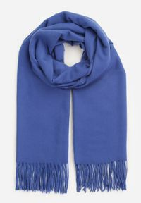 Renee - Granatowy Szalik Monelle. Kolor: niebieski. Materiał: bawełna, wiskoza, tkanina. Wzór: jednolity, gładki