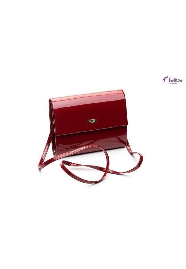 Czerwona kopertówka FELICE na lato, lakierowana