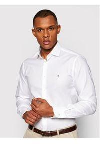 Tommy Hilfiger Tailored Koszula Twill MW0MW16449 Biały Slim Fit. Kolor: biały