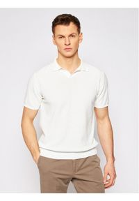 Biała koszulka polo Oscar Jacobson polo