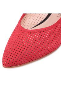 Czerwone sandały Sergio Bardi