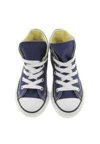 Niebieskie trampki Converse z okrągłym noskiem, na sznurówki
