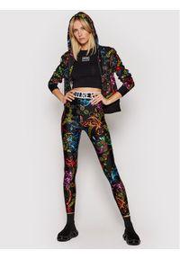 Versace Jeans Couture Legginsy Lycra St Print Baroque Bijou 71HAC101 Kolorowy Slim Fit. Materiał: lycra. Wzór: nadruk, kolorowy