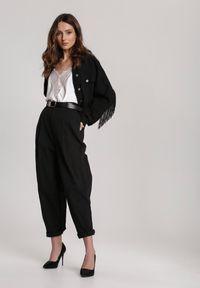 Czarne spodnie materiałowe Renee