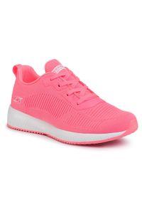 Różowe buty do fitnessu skechers z cholewką, na co dzień, Skechers Sport