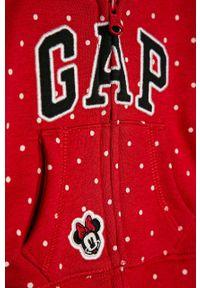 Czerwona bluza rozpinana GAP z kapturem, na co dzień