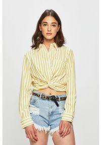 Żółta koszula Haily's z klasycznym kołnierzykiem, klasyczna, na co dzień