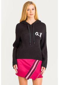 Sweter Armani Exchange krótki, z długim rękawem, na spacer