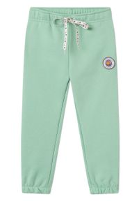 Zielone spodnie dresowe Femi Stories na co dzień, casualowe, z nadrukiem