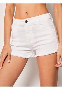 Białe szorty jeansowe Armani Exchange