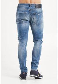 Emporio Armani - JEANSY SLIM TAPERED FIT EMPORIO ARMANI. Materiał: jeans