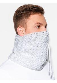 Biały szalik Ombre Clothing na zimę