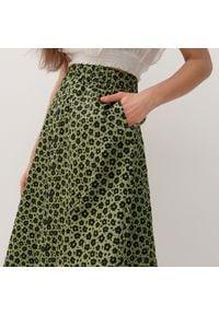 Reserved - Wzorzysta spódnica - Zielony. Kolor: zielony
