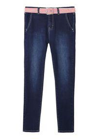 Niebieskie spodnie TOP SECRET na lato, w paski