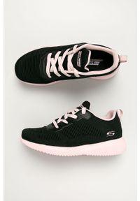 Czarne buty sportowe skechers z cholewką, na sznurówki