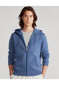 Ralph Lauren - RALPH LAUREN - Niebieska bluza z kapturem. Typ kołnierza: kaptur. Kolor: niebieski. Materiał: materiał. Długość rękawa: długi rękaw. Długość: długie. Wzór: haft