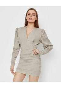 ISABEL MARANT - Beżowa sukienka Stella. Kolor: beżowy. Materiał: tkanina. Długość: mini